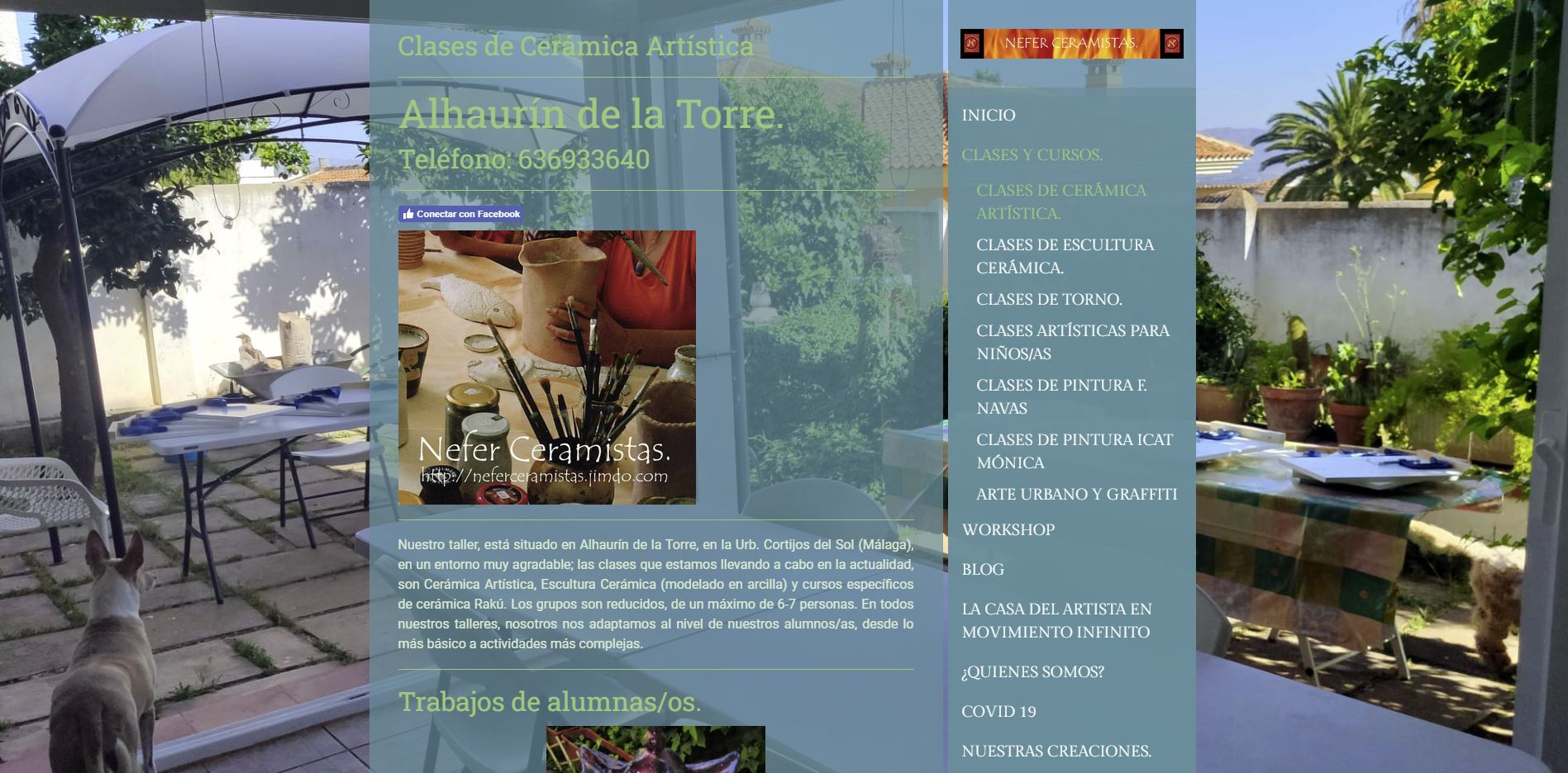 Página web neferceramistas.com