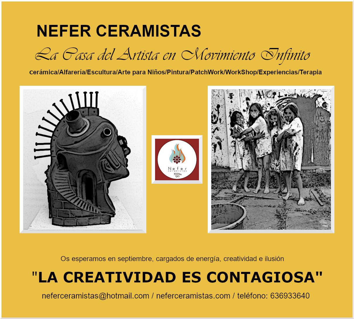 Nefer Ceramistas; comienza el mes de septiembre y con él, nuestros talleres.