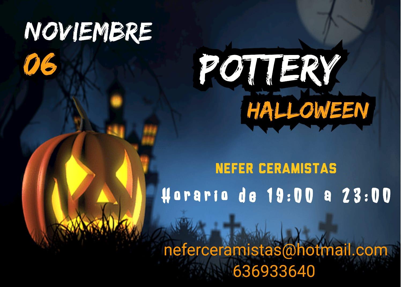 "Pottery Halloween; ""Cerámica con los Cinco Sentidos""; por Nefer Ceramistas"