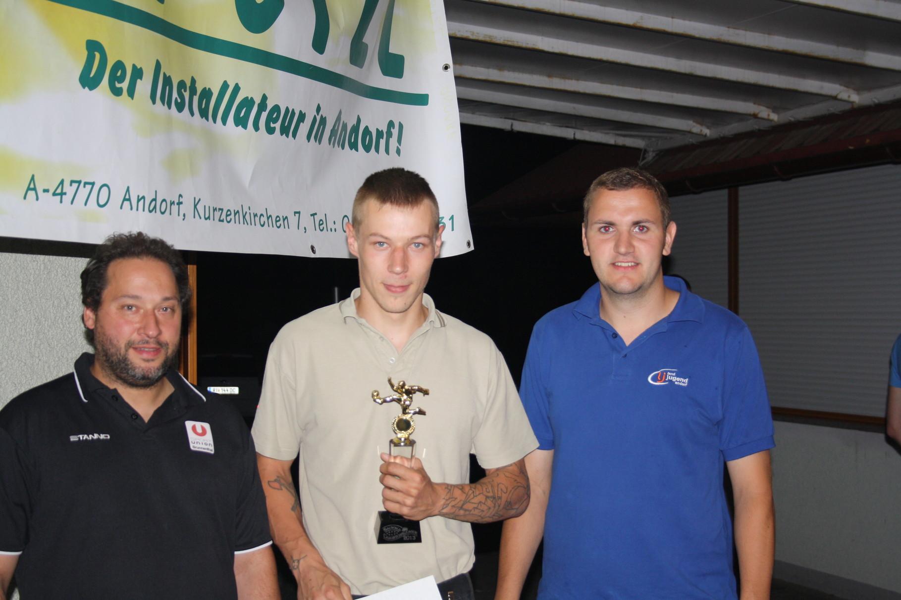 Torschützenkönig 2013 - Ortbauer David