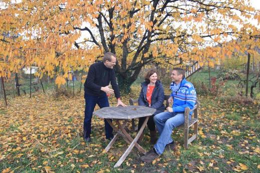 Gründungsvorstand von links nach rechts:  Hergen Schultze (2. Vorstand) , Dagmar Schülke (1. Vorstand) und André Siepe (Schatzmeister)