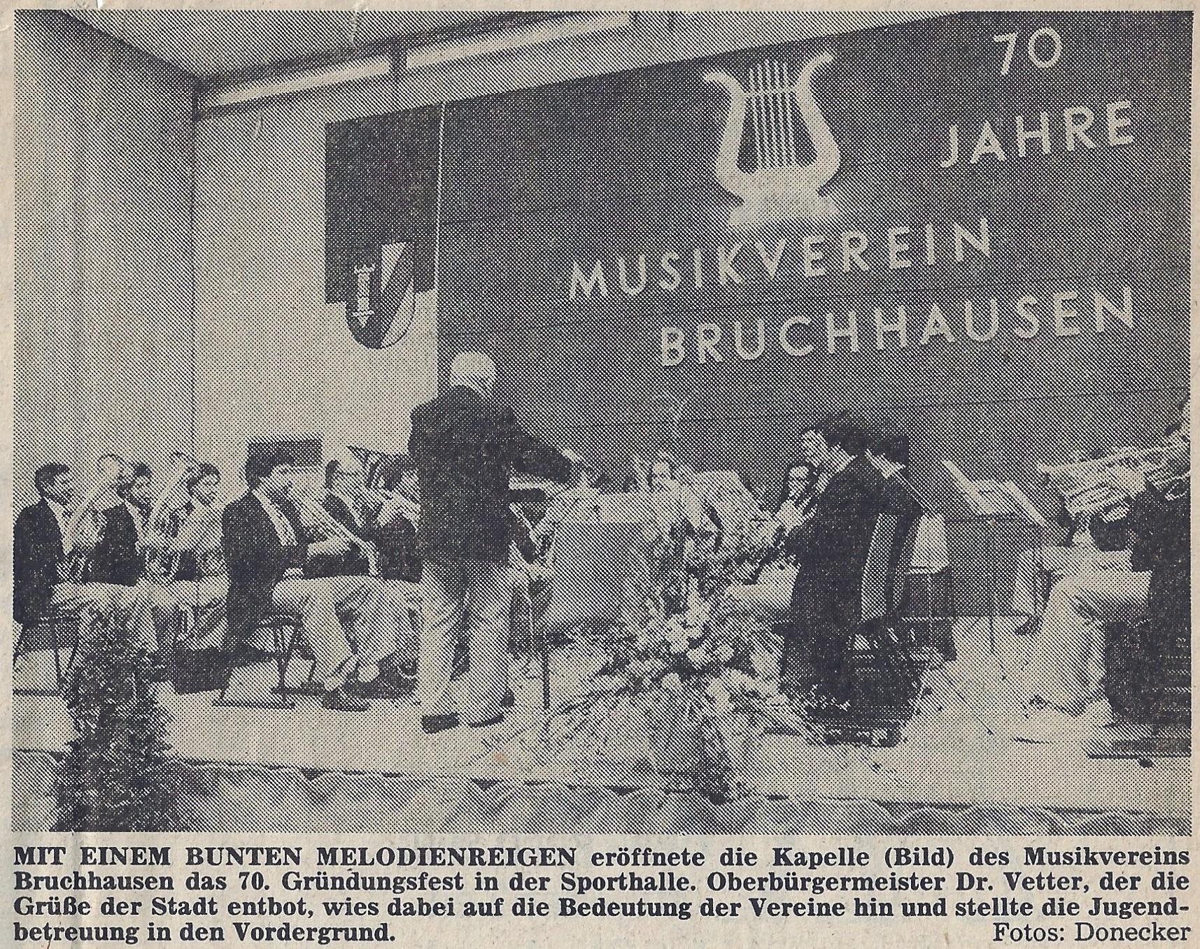 70. Gründungsfest mit Patenverein aus Durmersheim.