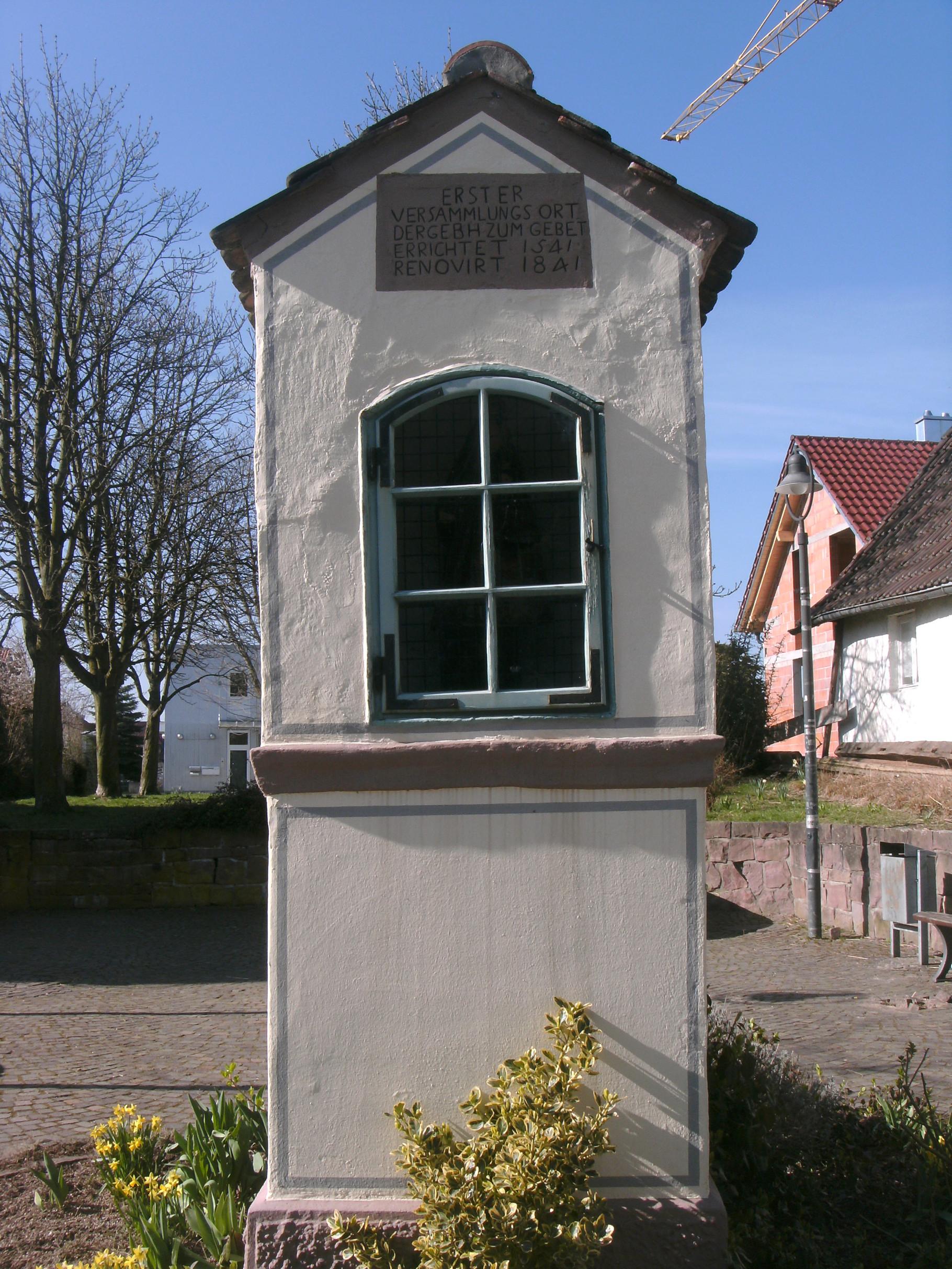 Bildstöckle in der Luidfriedstraße. Erster Versammlungsort zum Gebet 1541.