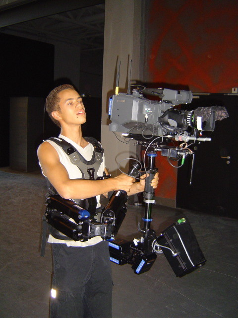 Ambroise Michel (Rudy) essaie le steadicam !