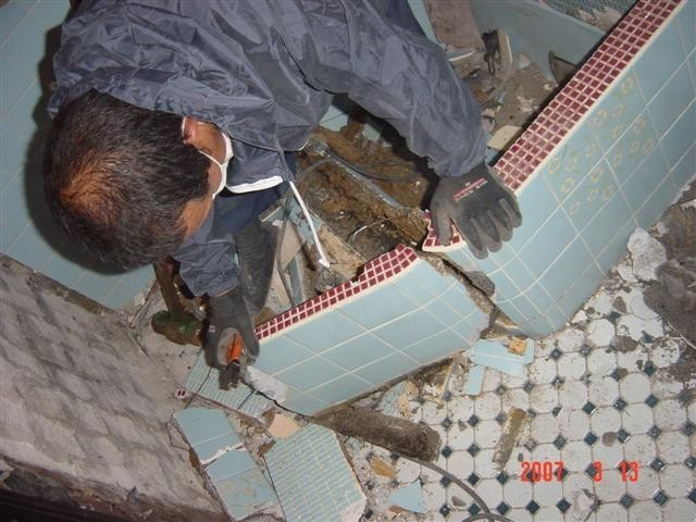 お風呂の浴槽 解体