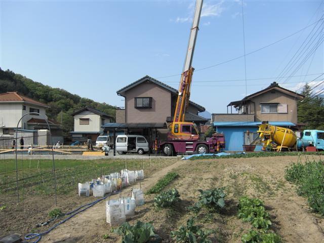 基礎工事順調に進行中!土間コンクリート打ちです。