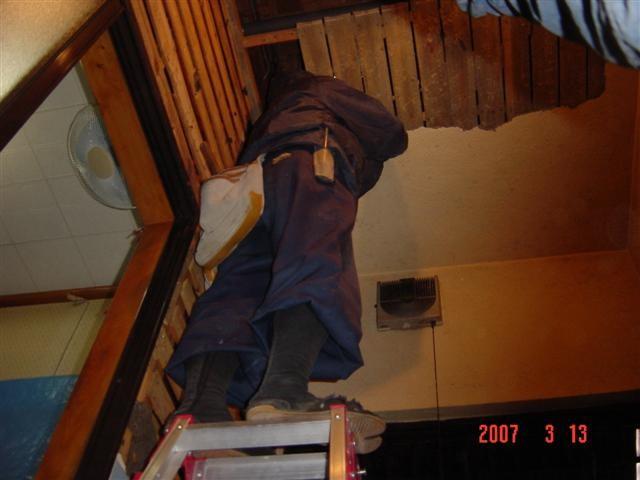 お風呂場の天井 解体