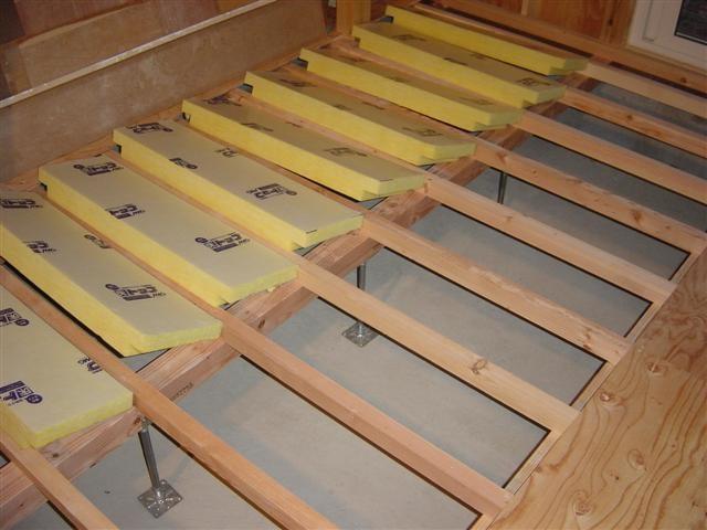 床の下に入れる断熱材です。住宅エコポイントに対応する密度の断熱材です!厚みが分かりますか?