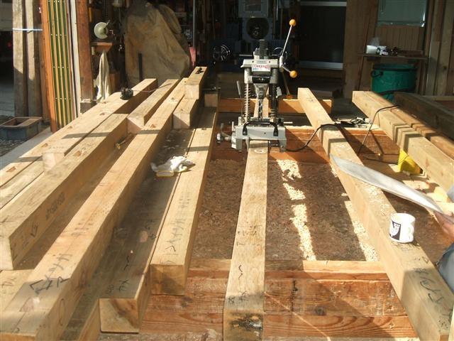 作業場では木材の加工「刻み作業」が始まりました!