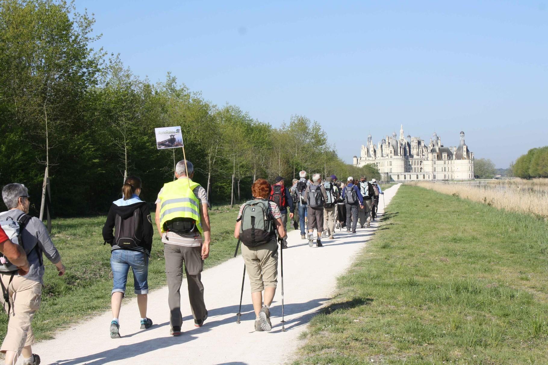 Club de randonnée de Romorantin Sologne - sortie Chambord - Blois, au coeur des châteaux de la Loire