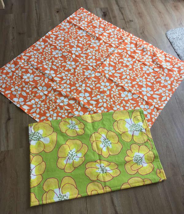 Ein Vorhang und eine Tischdecke, genäht für eine Freundin.
