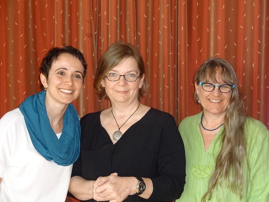 ...und hier das neue Vorstandsteam: (v.l.n.r Sabine 1.Vorsitzende, Claudia 2.Vorsitzende, Bettina Kassier
