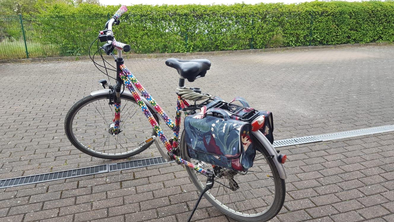 Oder wunderschöne Fahrradtaschen
