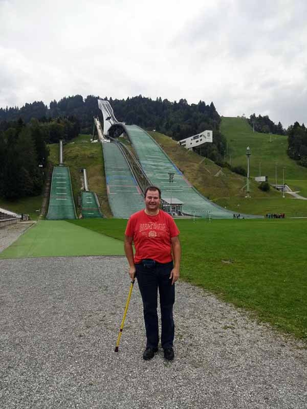 Ski Sprungschanze in Garmisch Patenkirchen