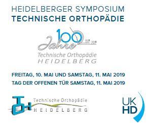 Flyer der Heidelberger Symposium der Technischen Orthopädie 2019