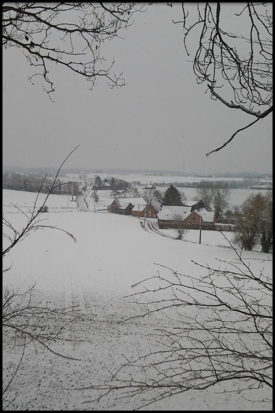 Notre campagne sous la neige.