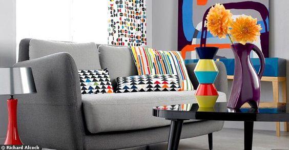 inspirations déco, canapé fauteuil table basse coussin vintage loft new york