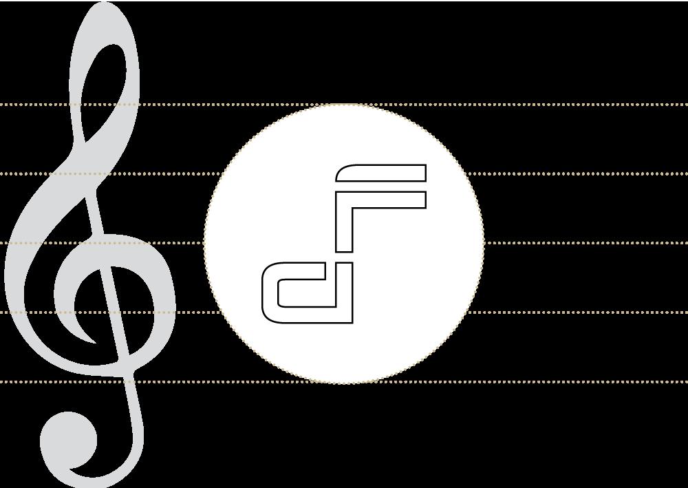 Konstruktionszeichnung: Logo Audio Factory Media