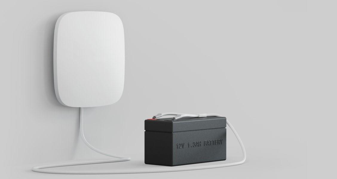 Allarme antifurto a batteria
