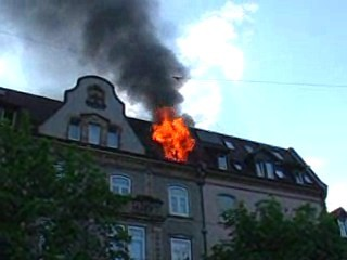 Situation beim Eintreffen der Feuerwehr Freiburg