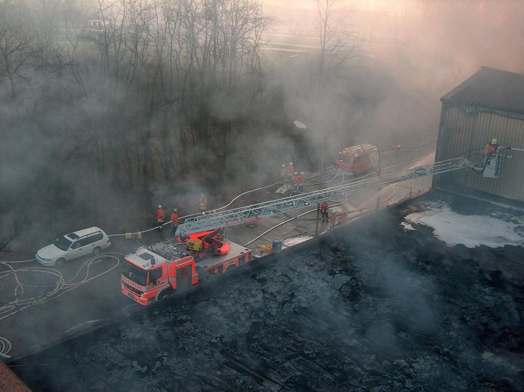 DLK der FF Bad Krozingen zur Unterstützung