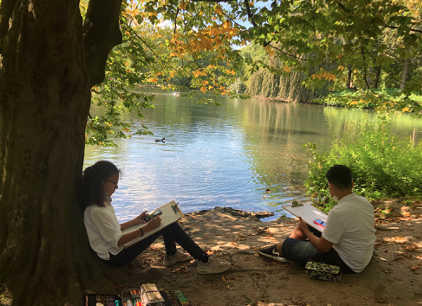 Naturstudien im Volksgarten Düsseldorf