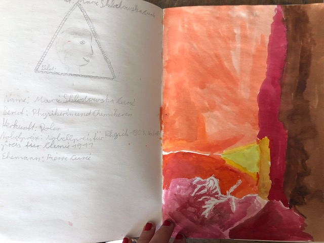 """Künstlerbuch """" Natur"""", Klara Heiss, Stufe 5"""