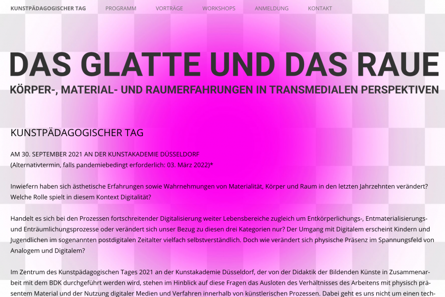 """Leitung eines Workshops """"KPT 2021"""", Kunstakademie Düsseldorf"""