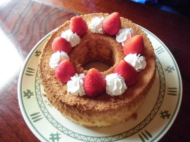 手作り米粉シフォンケーキ