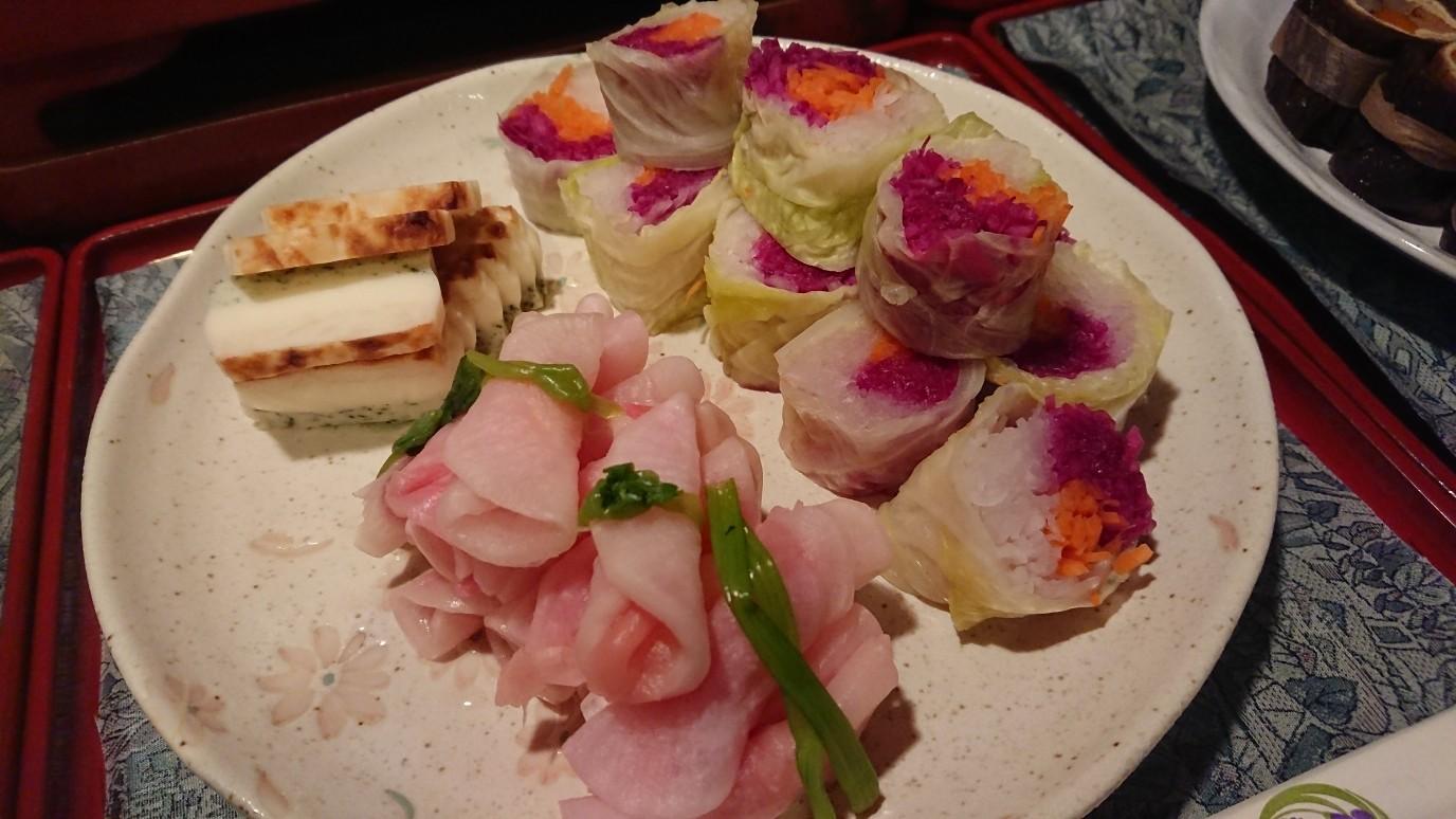 例)大根の甘酢漬け・野菜ロール