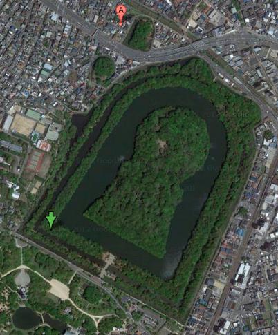 仁徳天皇陵:Googleマップ
