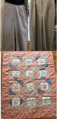 Pants and a Vintage Quilt
