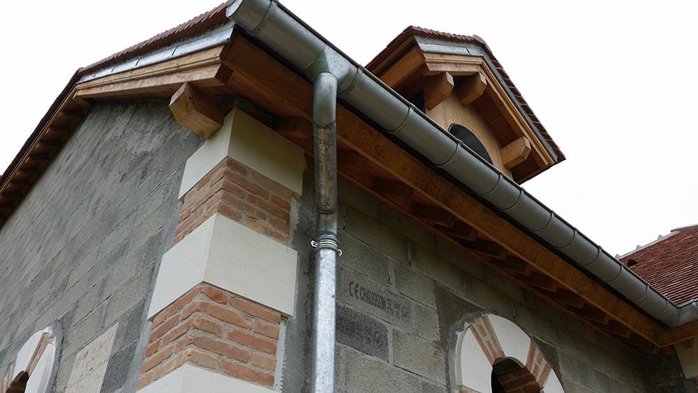 Construction des écuries du château