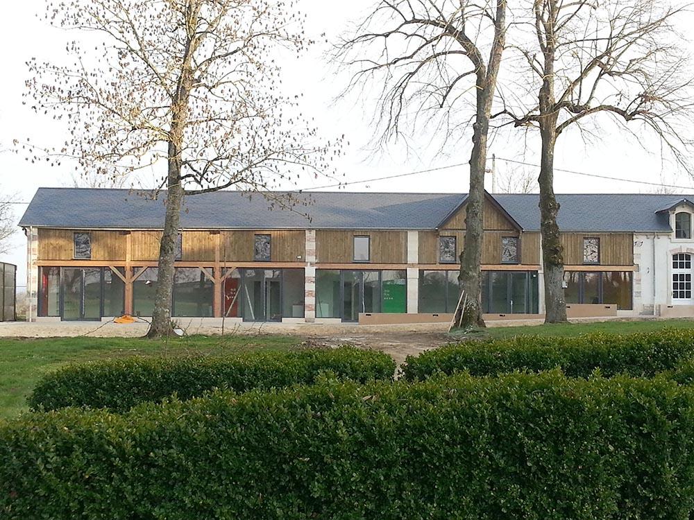 Restructuration du centre de loisirs, façade