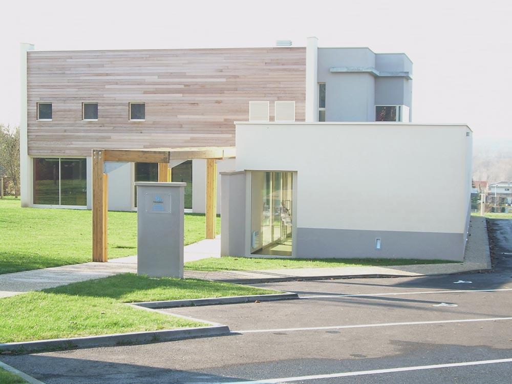 Construction d'une étude notariale, entrée principale