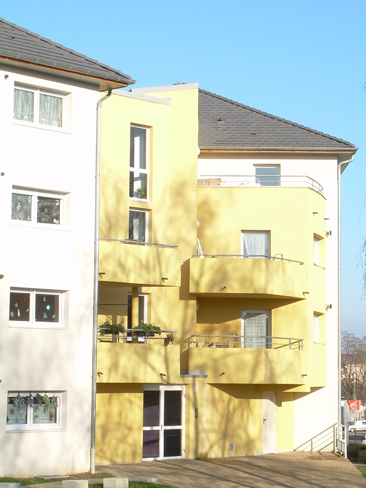 Construction de logement collectifs, façade
