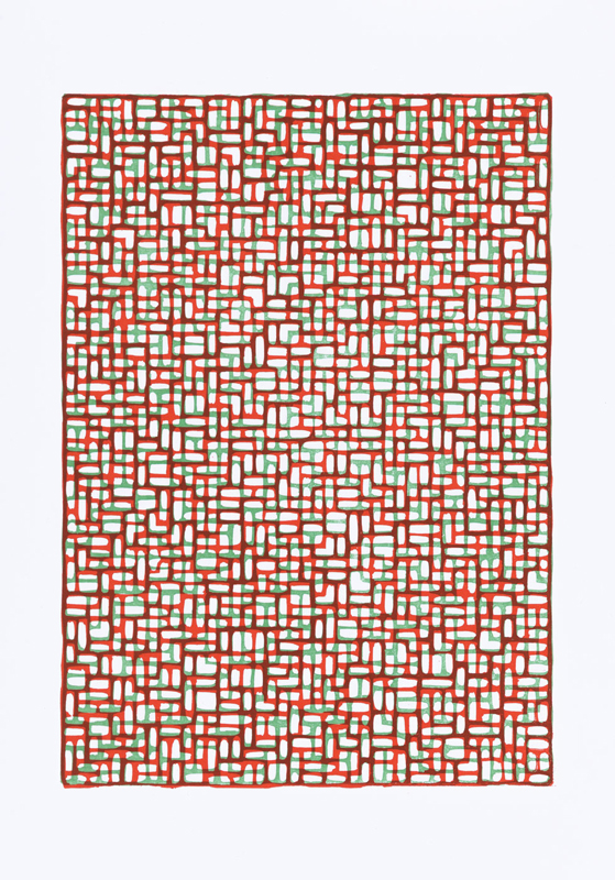 Gerhard Wichler: red/green. 2019. Linolschnitt