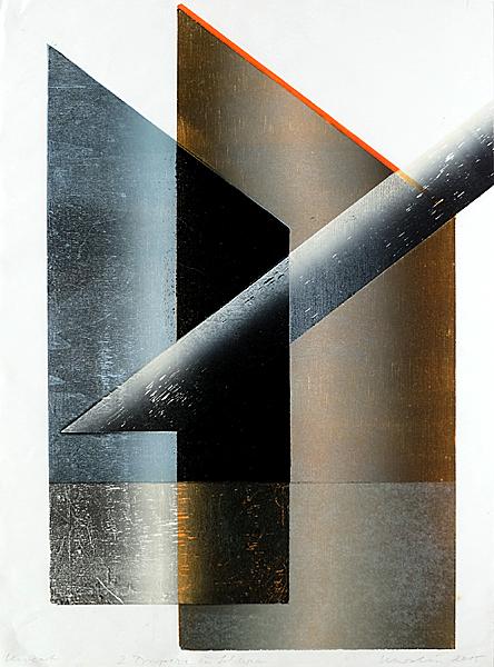 Susanne Werdin  // Zwei Trapeze. 2015. Materialdruck. 50 x 37 cm