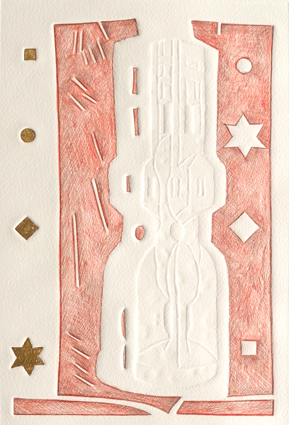 Otto Berndt Steffen // Provenienz. 2019. Prägedruck. Blattgold. 29 x 20 cm