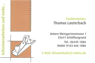 Schreinerarbeiten Lauterbach
