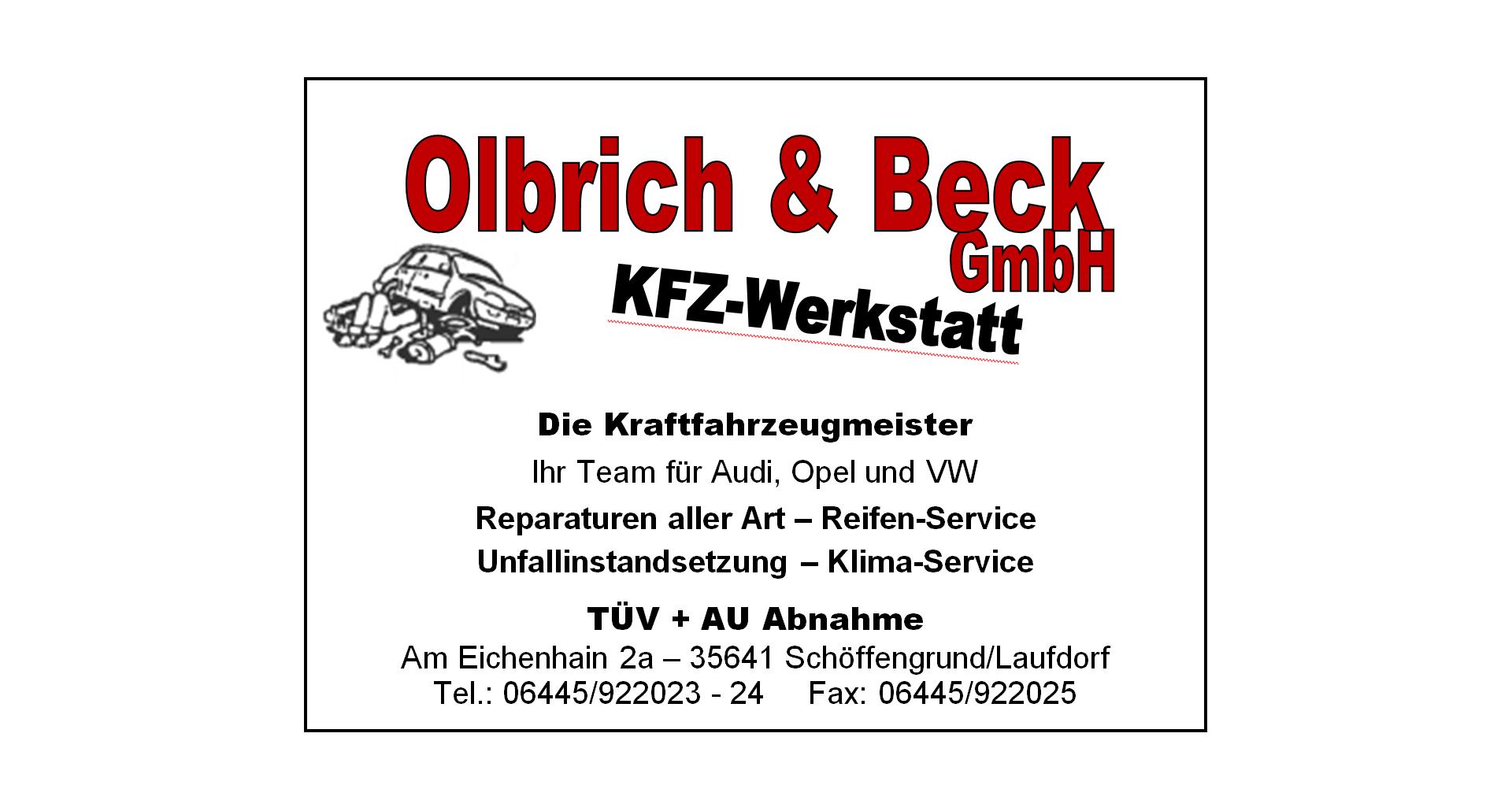 Olbrich & Beck GmbH KFZ Werkstatt