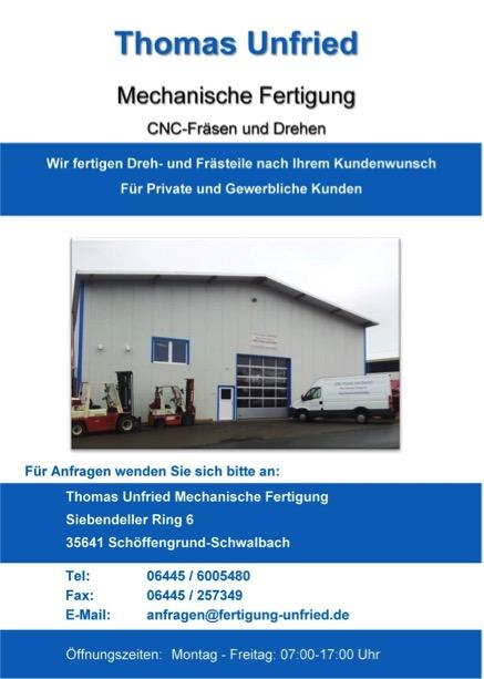 Thomas Unfried Mechanische Fertigung