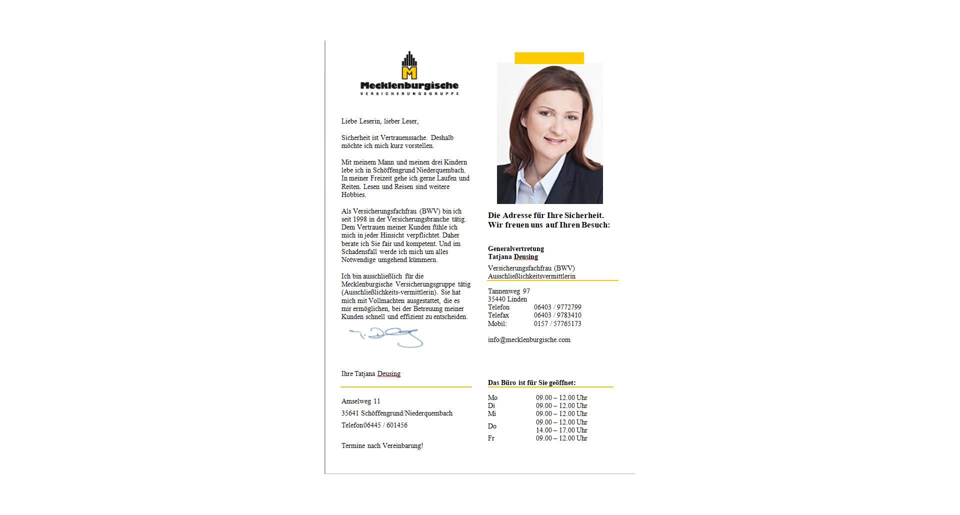 Tatjana Deusing Mecklenburgische Versicherungsgruppe