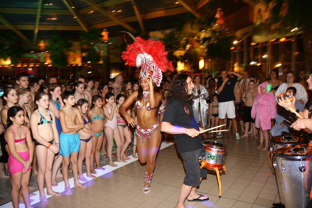 Palm Beach Stein mit der Samba Gruppe