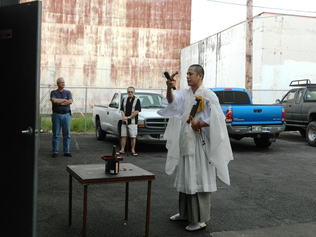 新しく開かれる柔道道場でのご祈祷