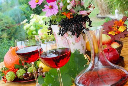 Weingenuss in Mainfranken nahe der Mainschleife