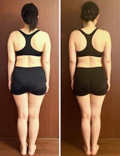 DNAパーソナル瘦身 40代女性 3ヶ月の結果 後ろ 前
