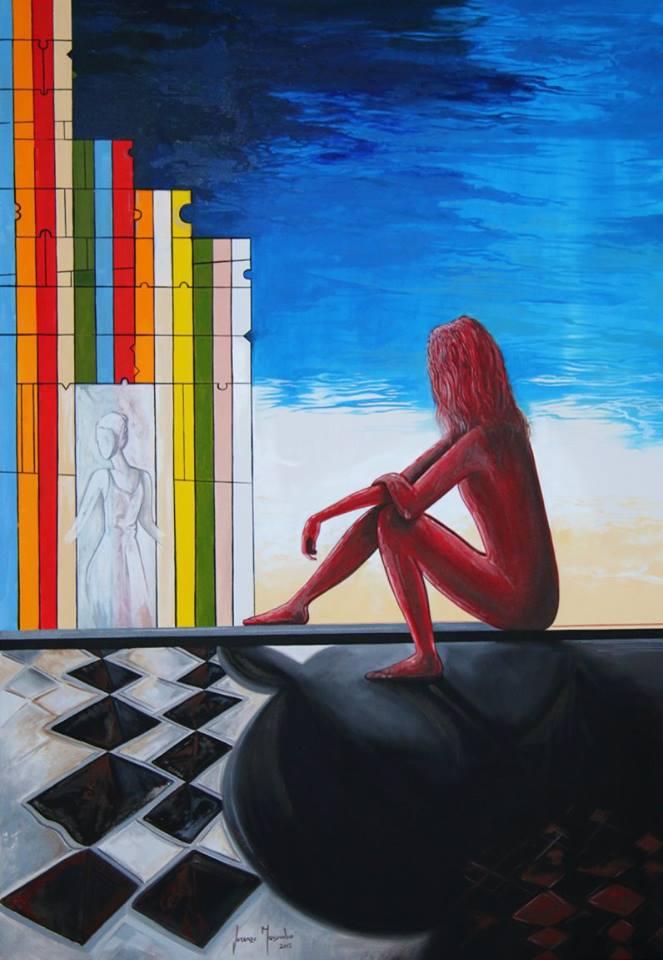 Visioni - olio su tela, cm. 70x100