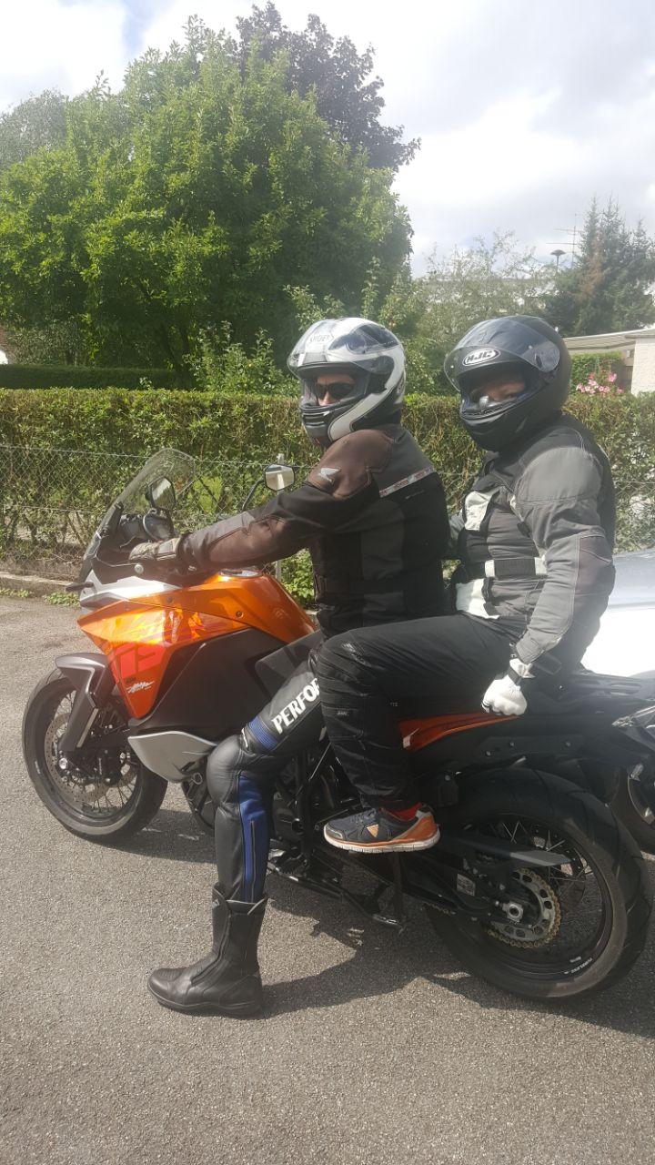 Motorradtour mit meinem Sohn