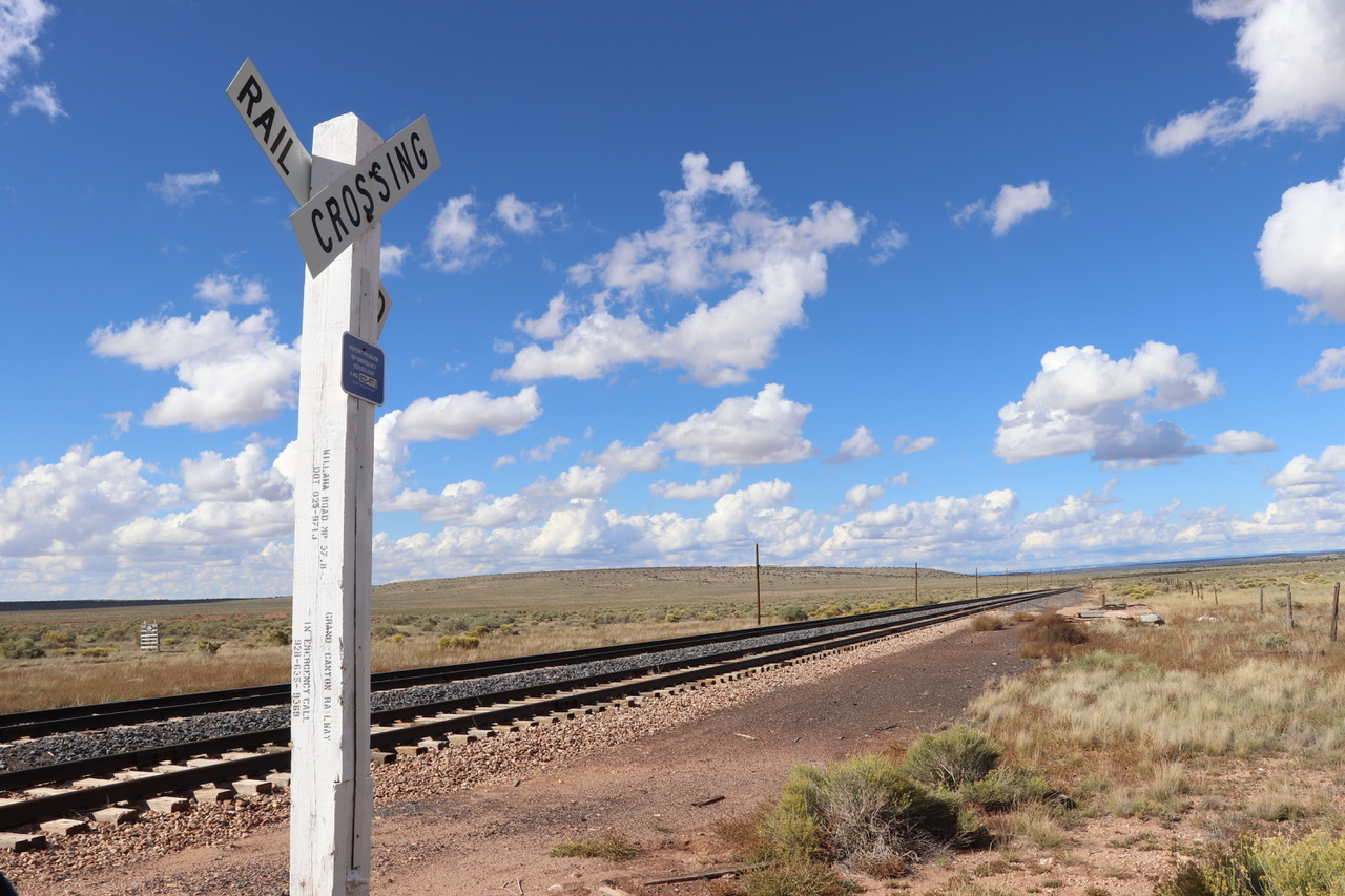 Railroad crossing in the middle of nowhere